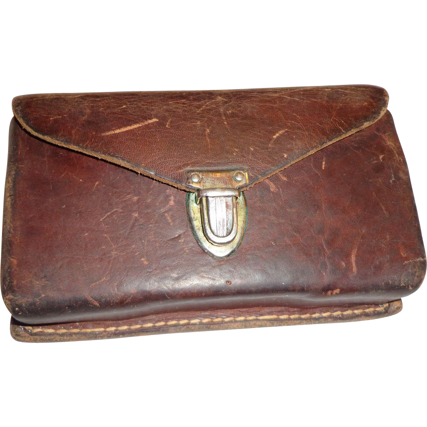 vintage sears roebuck leather rifle cartridge belt holder