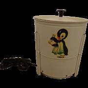 SALE Fantastic 1930s Electric Toy Washing Machine Tin Litho Penguin Litho Washer