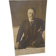 President Teddy Roosevelt Rotograph Postcard Theodore Born 1858 Died 1919