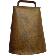 Antique Blacksmith-Made Cowbell Old West Americana Farming Country Decor