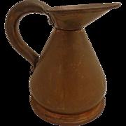SALE Antique 18th Century English Copper Measure Haystack 1/2 Pint Half Pint of Beer