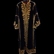 SALE Vintage Handmade Persian Robe Gold Thread Men's Royal Garment Costume