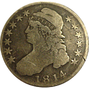 1814 Liberty Capped Bust Silver Half Dollar US Coin