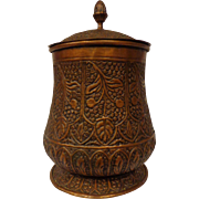 Spectacular Large Antique Persian Copper Jar Late Victorian