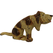Vintage Manoil Bloodhound Hunting Dog Lead Toy Figurine Old