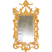 SALE Irish Chippendale Period George II Giltwood Mirror, 18th century