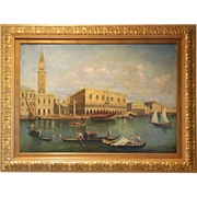 SOLD Late 19th century Venetian Grand Canal Oil Painting
