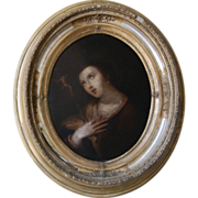 SALE 16th / 17th century Baroque Flemish painting of the Penitent Mary Magdalene