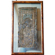 SOLD 15th century Renaissance / Late Medieval Flemish Framed Embroidery, Saint John