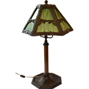 SOLD Bradley and Hubbard Arts and Crafts Lamp ca. 1915-1920