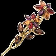 SALE MONET Flower Glass Brooch Vintage Jewelry