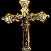 Unique Micro Mosaic Crucifix by Stocker