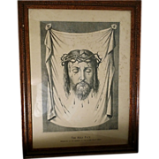 Magnificent Framed Print of Christ's Holy Face
