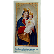 French Our Lady Holy Card