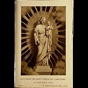 French St. Joseph Holy Card