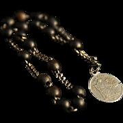 SALE Gutta Percha Chaplet Rosary of St. Anne