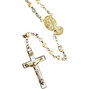 Glass Bead Rosary with Box Imported from Japan