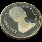 Vintage Elizabeth II D.G. Regina Canada Silver Dollar Coin Toronto 1834-1984