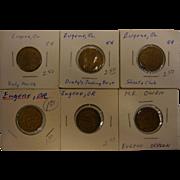 Set of 6 Vintage Tokens from Eugene, OR