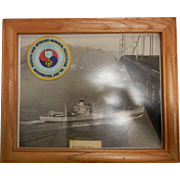 Framed Vintage Photograph of USS Polaris AF-11