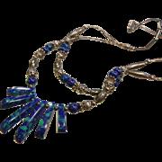 Fine Sterling Silver & Azurite Necklace