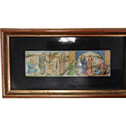 Framed Vintage Hand Painted Miniature Painting - Merchant Market