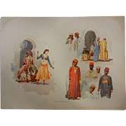 "Fine Chromolithograph The World's Fair in Watercolors - ""Midway Character Types"" by"
