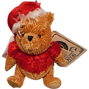 Walt Disney Mohair Winnie the Pooh Santa Bear by Boyds Bears