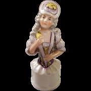 SALE German Bisque Half Doll Handle