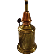 "Solid Brass and Copper Miniature French Oil Lamp ""Pigeon"""