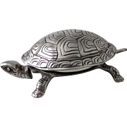 TURTLE Silver plated novelty DESK BELL ; Antique 19th century, Germany