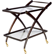 Mid-Century Italian Bar Cart - Gio Ponti Style
