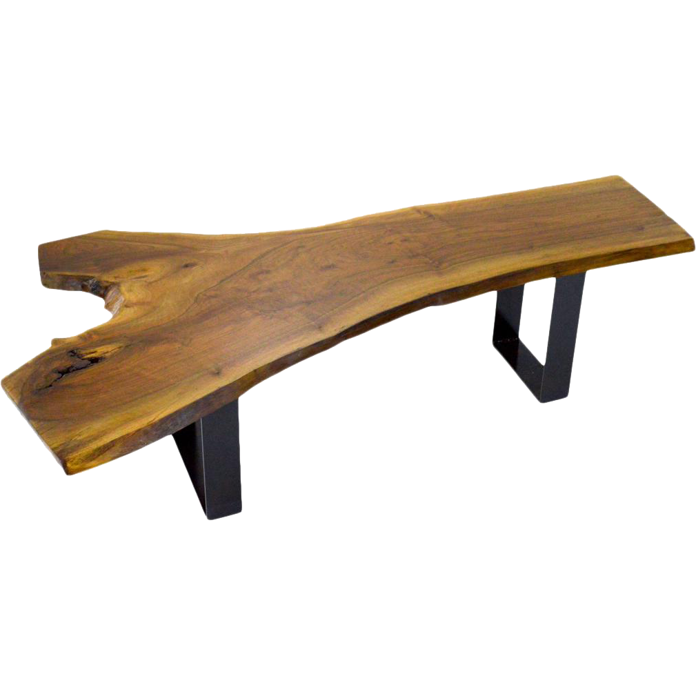 Live Edge Walnut Bench Or Coffee Table From Walnutandwest On Ruby Lane