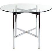 REDUCED Chrome and Brass 42 inch Round Table