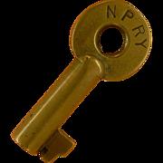 SOLD Northern Pacific Railway Railroad Brass Adlake  Key