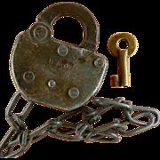 SALE PENDING B & O RR Baltimore and Ohio Railroad Brass Key with Bonus lock