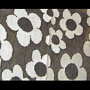 Vintage Lace Black & White Daisy Fabric 8 yds Plus