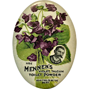 Mennen's Violet Talcum Toilet Powder Advertising Mirror