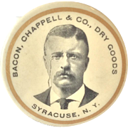 Teddy Roosevelt Pocket Advertising Mirror
