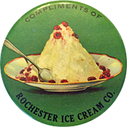 Rochester Ice Cream Co. Advertising Pocket Mirror