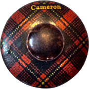 Tartanware Mauchline Ware Tape Measure, Cameron