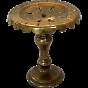 SALE Doll size brass pedestal trivet - circular