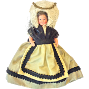 Perret French doll with folk costume from Champagne