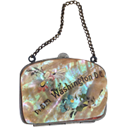 SALE Mother-of-pearl souvenir coin purse