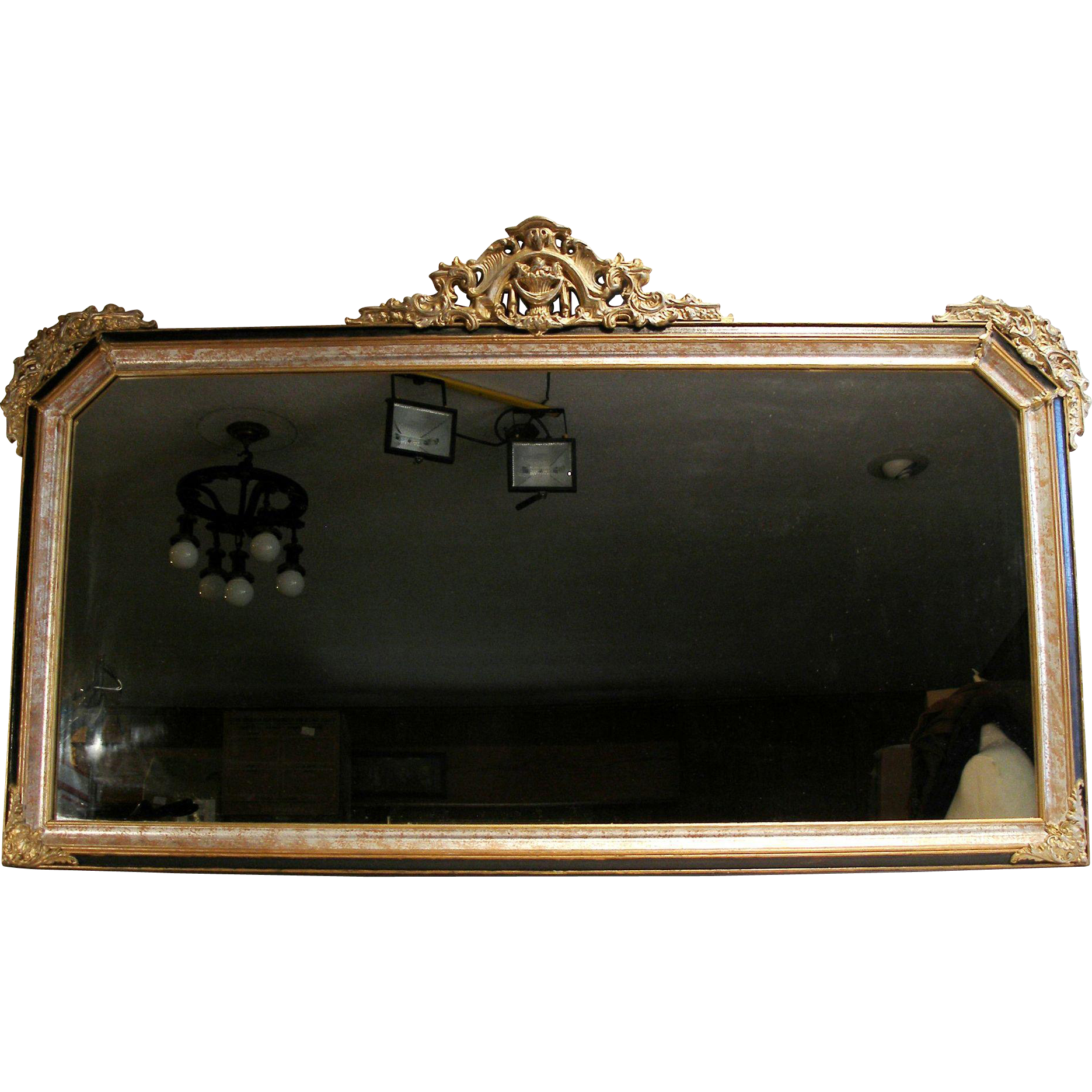 Antique Victorian French Rococo Gold Gilt Wood Frame