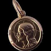 """Dio Ti Protegga ""10K Vintage Gold Charm / Pendant "" God Protect You"" Bale"