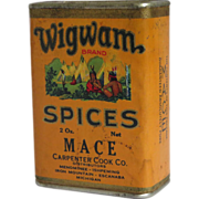 SOLD Wigwam Mace Spice Container