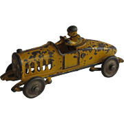 Hubley Cast Iron Racing Car With Driver