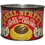 Vintage Canal Street Coffee & Chicory Tin