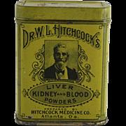 Dr. W.L. Hitchcock's Medicinal Tin